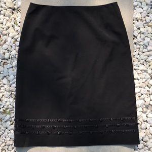 Escada Black Knee Length Skirt Size 38/M